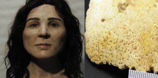Aproximación facial de Elba y restos de su cráneo. Foto: Cadernos do Laboratorio Xeolóxico de Laxe.