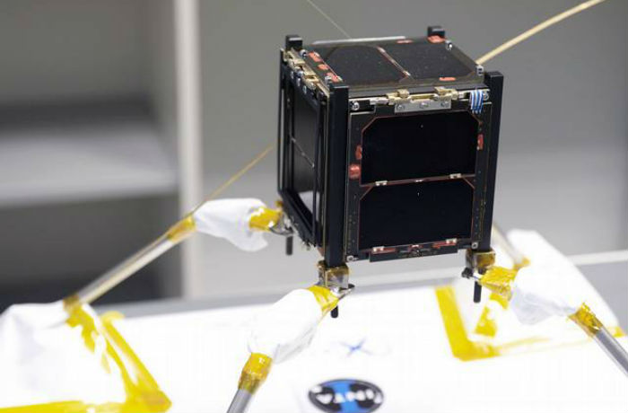 O Xatcobeo foi o primeiro satélite galego lanzado ao espazo. Foto: AttlanTIC.