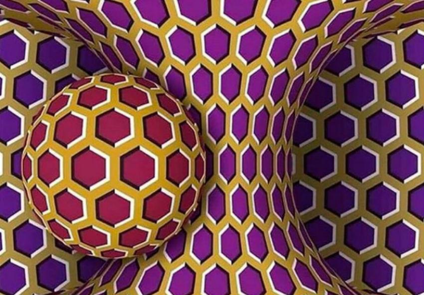 Ilusión óptica que está dando a volta ao mundo. Fonte: Alice Proverbio / Twitter.