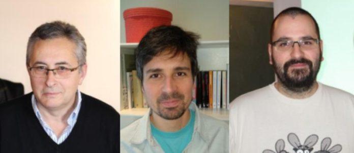 De esquerda a dereita, Fernando Alcalde, Pablo González e Alvaro Lozano. Foto: USC.