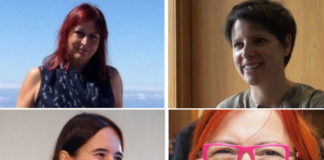 De esquerda a dereita e de arriba a abaixo: Carmen del Puerto, Joana Barros, Águeda Gras e Clara Grima.