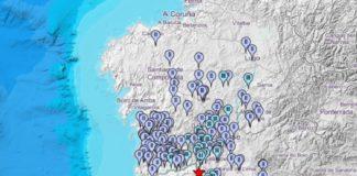 Relación de avisos tras o sismo de Melgaço, no serán do pasado sábado. Fonte: IGN.