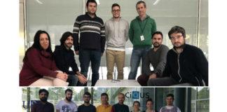 Equipos de Insitu (arriba) e do CiQUS recoñecidos nos Premios de Transferencia de Tecnoloxía 2018.