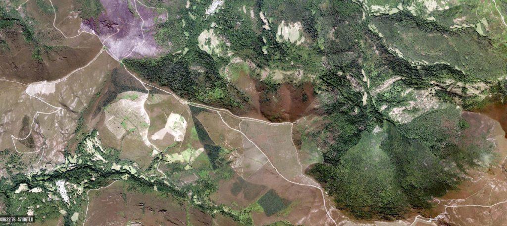 Vista aérea da Devesa da Rogueira. Fonte: IGN.