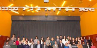Foto de familia da 9ª reunión de Mozos Investigadores celebrada na Coruña. Fonte: Concello da Coruña.