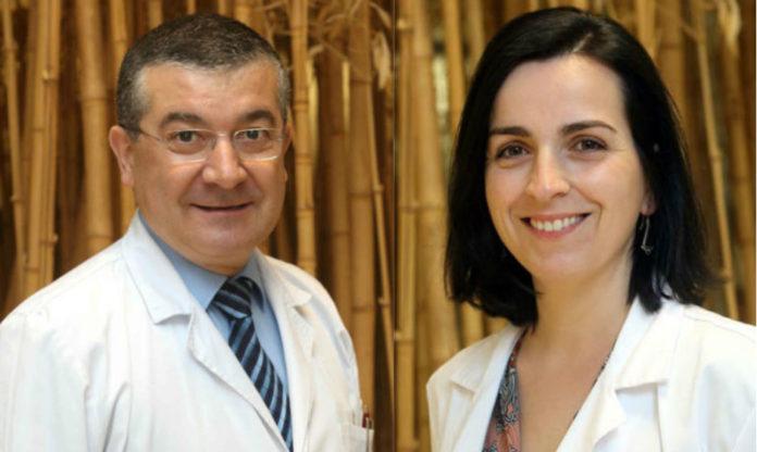 Rafael López e María de la Fuente. Fonte: Oncomet.