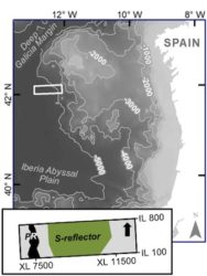 Área dos arredores do Banco de Galicia estudada. Fonte: Universidade de Rice.