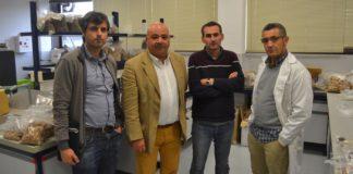 Óscar González-Prieto, Luis Ortiz, Juan Luis Rodríguez Somoza e Antonio Vázquez, na Escola de Enxeñaría Forestal de Pontevedra. Foto: Duvi.