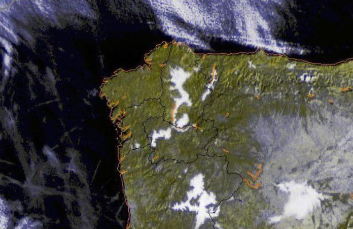 As néboas nos vales de Lugo e Ourense impiden o aumento das máximas e xeran unha gran sensación de frío. Fonte: MeteoGalicia.