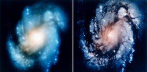 Antes e despois da corrección das lentes do Hubble. Fonte: nasa.gov.