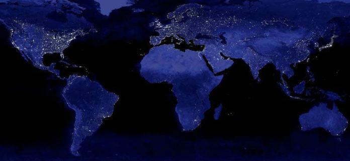 Imaxe nocturna do planeta. Fonte. NASA.