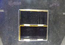 """O panel solar do Hubble pode verse na exposición """"A astronomía como cha contan"""", na Casa das Ciencias. Foto: R. Pan."""