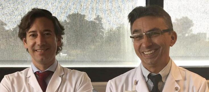 Pablo Pérez e José Miranda, dous dos autores do estudo sobre a vitamina E. Fonte: Ciberobn.