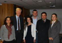 De esquerda a dereita, Asunción Cámara, Klaus von Gadow, Andrea Hevia, Fernando Castedo, Roque Rodríguez e Isabel Cañellas. Foto: USC.