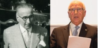 Tomás Batuecas e Miguel Ángel Ríos, profesor e alumno a comezos dos anos 60.
