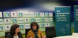 Mila Alonso e Carme Fouces, na presentación dos actos do Día da Muller e a Ciencia.
