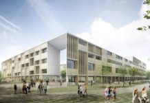 Recreación da Facultade de Medicina da USC proxectada na Choupana. Fonte: CDB Arquitectura.
