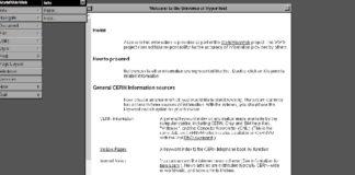 Recreación do primeiro navegador web. Fonte: CERN.