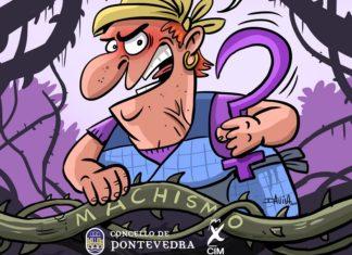 Cartel de Luís Davila para o vindeiro 8 de marzo. Fonte: Concello de Pontevedra.