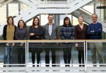 Membros do grupo de Biotecnoloxía Ambiental implicados na organización do simposio. Foto: Iria Lema.