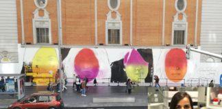 O mural está sendo pintado estes días na Gran Vía de Madrid. Fonte: Change.org.