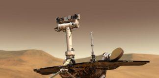 Ilustración de Opportunity sobre a superficie de Marte. Fonte: NASA.