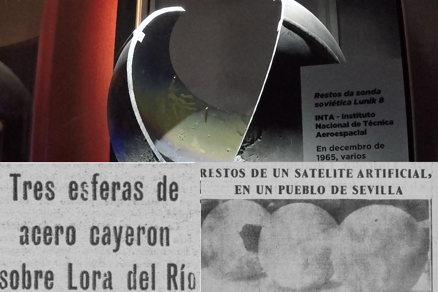 O impacto dos restos da sonda soviética xerou unha gran expectación en España.
