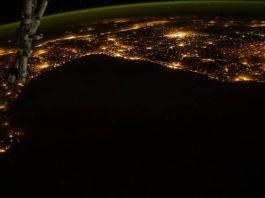Vídeo desde a Estación Espacial, con Galicia á esquerda da imaxe.