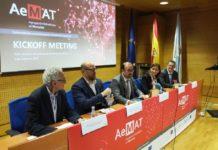 Presentación de Aemat: De esquerda a dereita, López Quintela, Martiño Noriega, Antonio López, Carmen Pomar e José Rivas. Foto: Servimav.