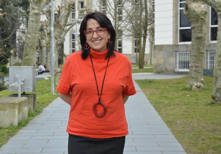 Águeda Gómez, no Campus de Ourense. Foto: Duvi.