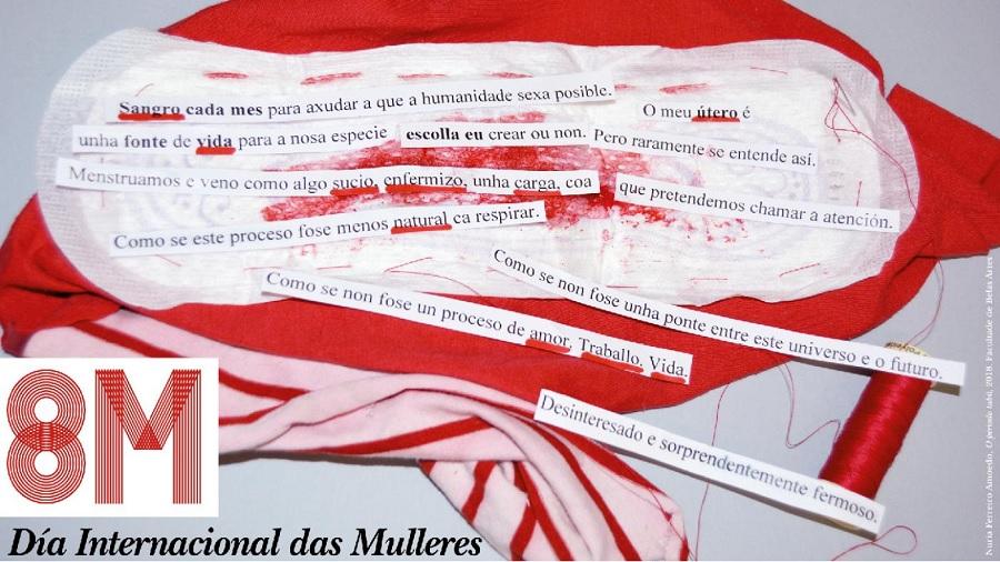 Cartel de Nuria Ferreiro Amoedo para conmemorar o 8M. Fonte: Duvi.