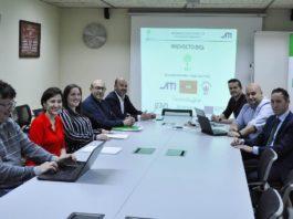 Presentación de resultados do proxecto BIGs na sala de xuntas da Escola de Enxeñaría de Minas e da Enerxía. Foto: Duvi.