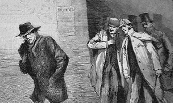 Ilustración dun xornal británico na época de Jack o Destripador.