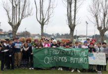 Alumnos do CEIP Antonio Palacios do Porriño levan semanas concentrándose contra o cambio climático e secundarán a folga deste venres. Foto: Proyecto Cooltureco.
