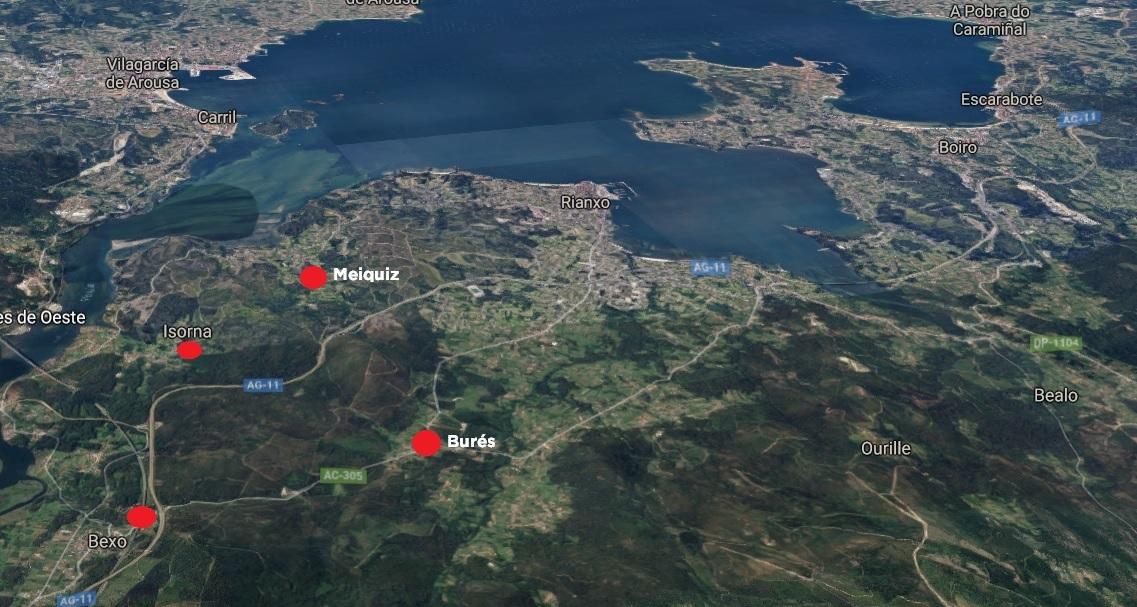 O lume achegouse a lugares como Bexo, Isorna, Meiquiz ou Burés.