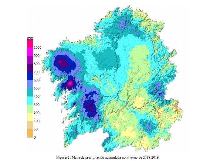 """O inverno e o """"Efecto Rías"""". Fonte: MeteoGalicia."""