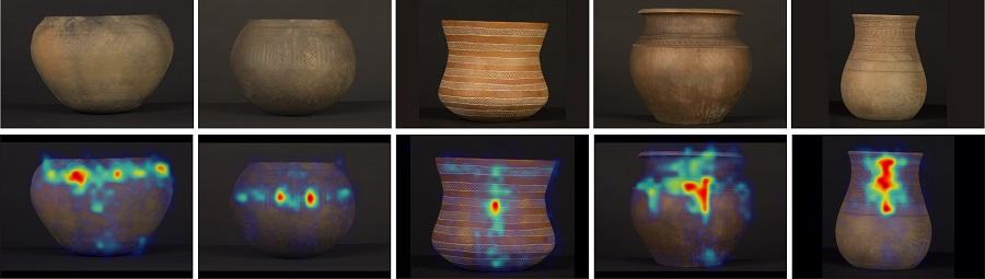 Patróns de seguimento dos diversos obxectos cerámicos da prehistoria. Fonte: CSIC.
