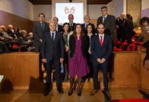 Premiados e autoridades presentes na entrega dos premios Ernesto Vieitez 2019. Foto: RAGC.