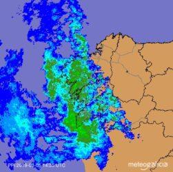 Radar de MeteoGalicia ás 15.40 horas.