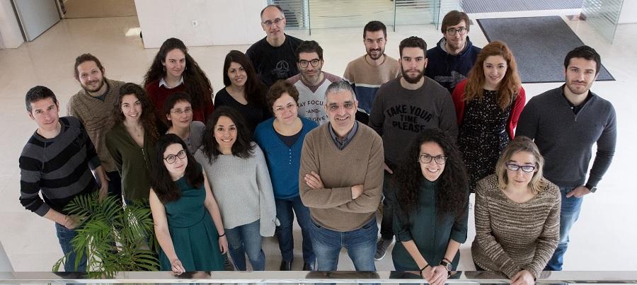 Equipo do laboratorio dirixido por Xosé Bustelo no CIC de Salamanca.