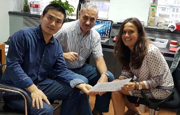 Song Xing, José María Bermúdez de Castro e María Martinón, autores do estudo. Fonte: CENIEH.