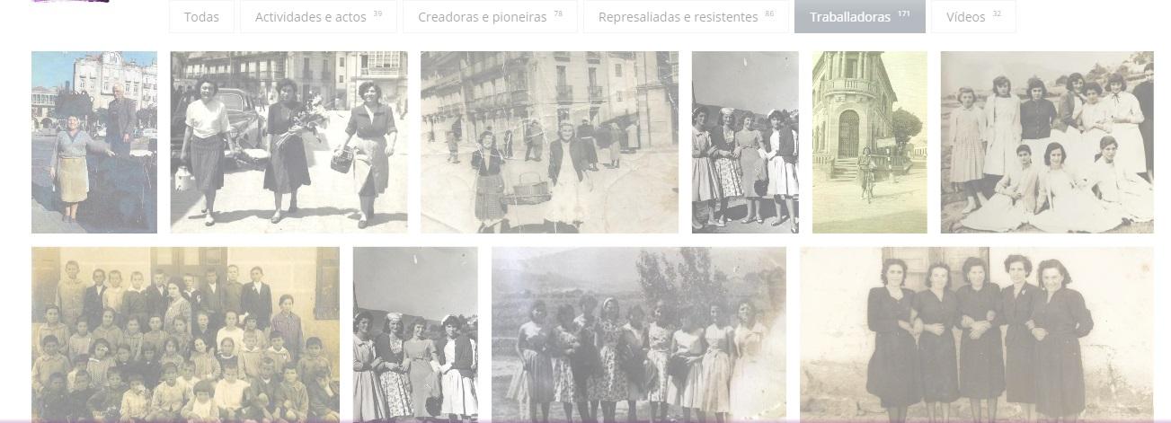 O fondo documental de Do gris ao violeta recolle imaxes, sons, e documentación sobre centos de mulleres da cidade. Fonte: dogrisaovioleta.gal.