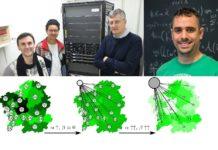 De esquerda a dereita, Jorge Mira Mariamo Mussa, Alberto Pérez Muñuzuri e Luís F. Seoane, autores do traballo sobre o cambio lingüístico en Galicia. Fonte: USC/Nature Communications.