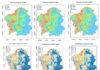 Mapa da distribución da velutina en 2018, 2019 e 2020 en Galicia. Fonte: informe de VeluMap