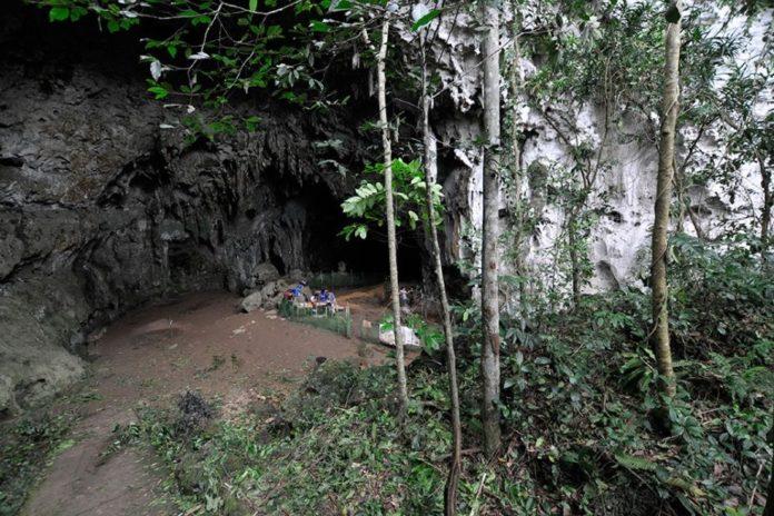 Entrada da cova de Callao, en Luzón (Filipinas), onde se atoparon os restos do