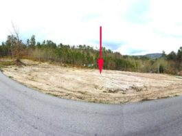 Punto da parroquia de Loureiro, no Irixo, onde se produciron os danos. Fonte: Seprona/Garda Civil.