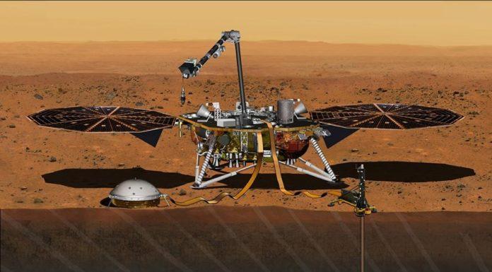 O vehículo Insight da NASA (na imaxe, unha recreación) rexistrou o son do tremor. Fonte: NASA.
