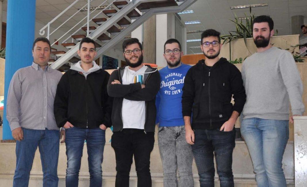 Manuel Caeiro, Martín Álvarez, José Antonio Álvarez, Iván Mariño, Daniel Soneira e David Iglesias. Foto: Duvi.