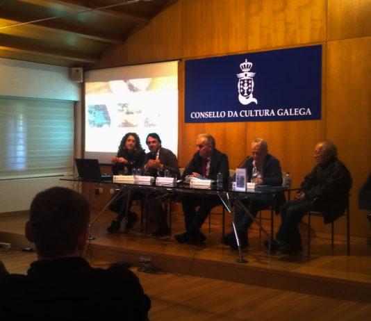 Os participantes da mesa redonda na xornada no Consello da Cultura Galega. Fonte propia