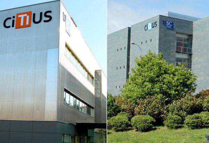 CiTIUS e CiQUS, no campus sur, son dous dos centros singulares da USC.